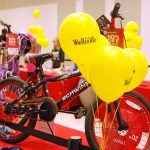 Prize bike being showcased at Wellsville event.